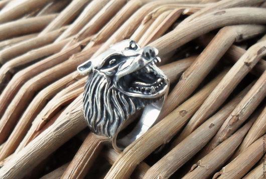 """Кольца ручной работы. Ярмарка Мастеров - ручная работа. Купить кольцо """"ВОЛК"""". Handmade. Волк, большой размер"""