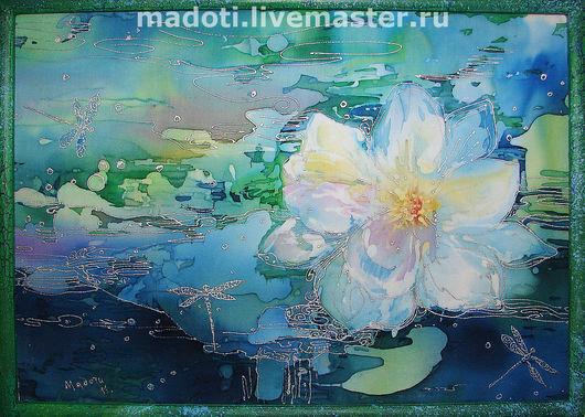 Картины цветов ручной работы. Ярмарка Мастеров - ручная работа. Купить Лотос. Handmade. Лотос, подарок на любой случай, цветок