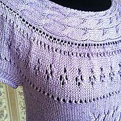 """Одежда ручной работы. Ярмарка Мастеров - ручная работа Летний пуловер """"Персидская сирень"""". Handmade."""