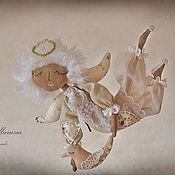 """Куклы и игрушки ручной работы. Ярмарка Мастеров - ручная работа """"Ангел-мальчик летящий"""" - авторская кофейная куколка. Handmade."""