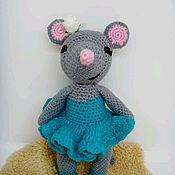 Мягкие игрушки ручной работы. Ярмарка Мастеров - ручная работа Мышка балеринка. Handmade.