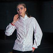 Одежда ручной работы. Ярмарка Мастеров - ручная работа Белая хлопковая блузка «Морская пена». Handmade.