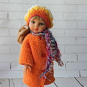 Куклы и игрушки ручной работы. Ярмарка Мастеров - ручная работа Шубка, платье и берет на куклу 32-35 см. Handmade.