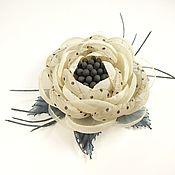 Украшения handmade. Livemaster - original item Brooch flower handmade fabric December Fairy. Handmade.