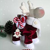 Куклы и игрушки ручной работы. Ярмарка Мастеров - ручная работа Рождественский олень Ричи. Handmade.