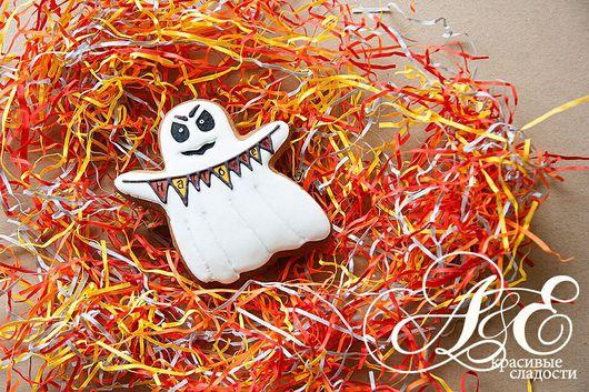 """Подарки на Хэллоуин ручной работы. Ярмарка Мастеров - ручная работа. Купить Пряник """"Привидение"""". Handmade. Подарок на Хэллоуин, пряники"""