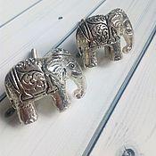 Материалы для творчества ручной работы. Ярмарка Мастеров - ручная работа мебельные ручки - слоны. Handmade.
