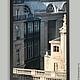 Париж фото, часть триптиха для интерьера -- архитектурная композиция, улица Риволи