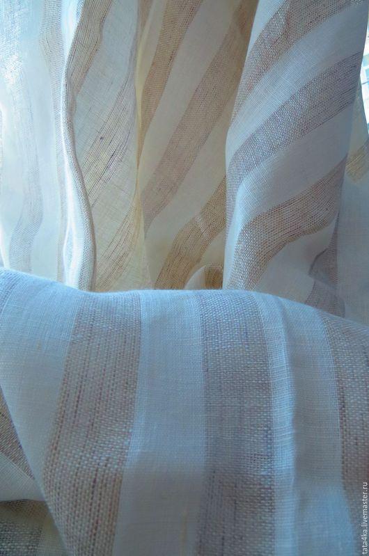 """Текстиль, ковры ручной работы. Ярмарка Мастеров - ручная работа. Купить Льняные шторы """"Полоса"""". Handmade. Комбинированный, шторы для гостиной"""