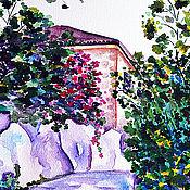"""Картины и панно ручной работы. Ярмарка Мастеров - ручная работа Картина акварелью """"Каменистая тропа"""". Handmade."""