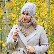 Аксессуары handmade. Livemaster - original item Caps: Knitted beanie hat in Brioche downy style. Handmade.