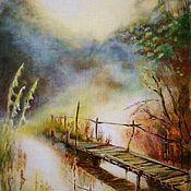 Картины ручной работы. Ярмарка Мастеров - ручная работа Картины: туман. Handmade.