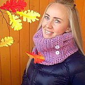 "Scarves handmade. Livemaster - original item Tube scarf (Snood) ""Violet dreams"". Handmade."