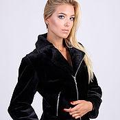 Одежда handmade. Livemaster - original item Black beaver fur bomber jacket. Handmade.