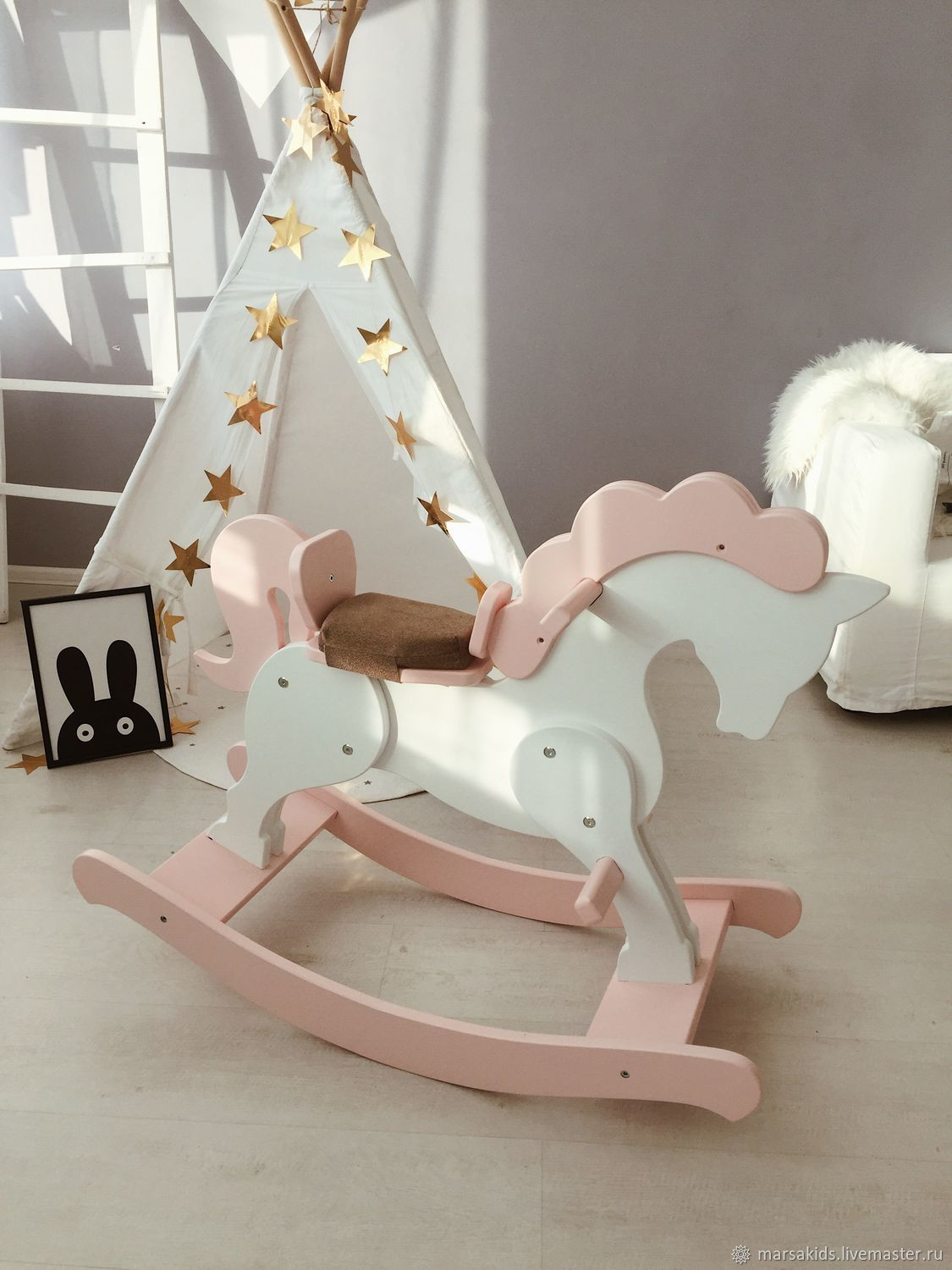 Rocking horse light-pink, Accessories, Moscow, Фото №1