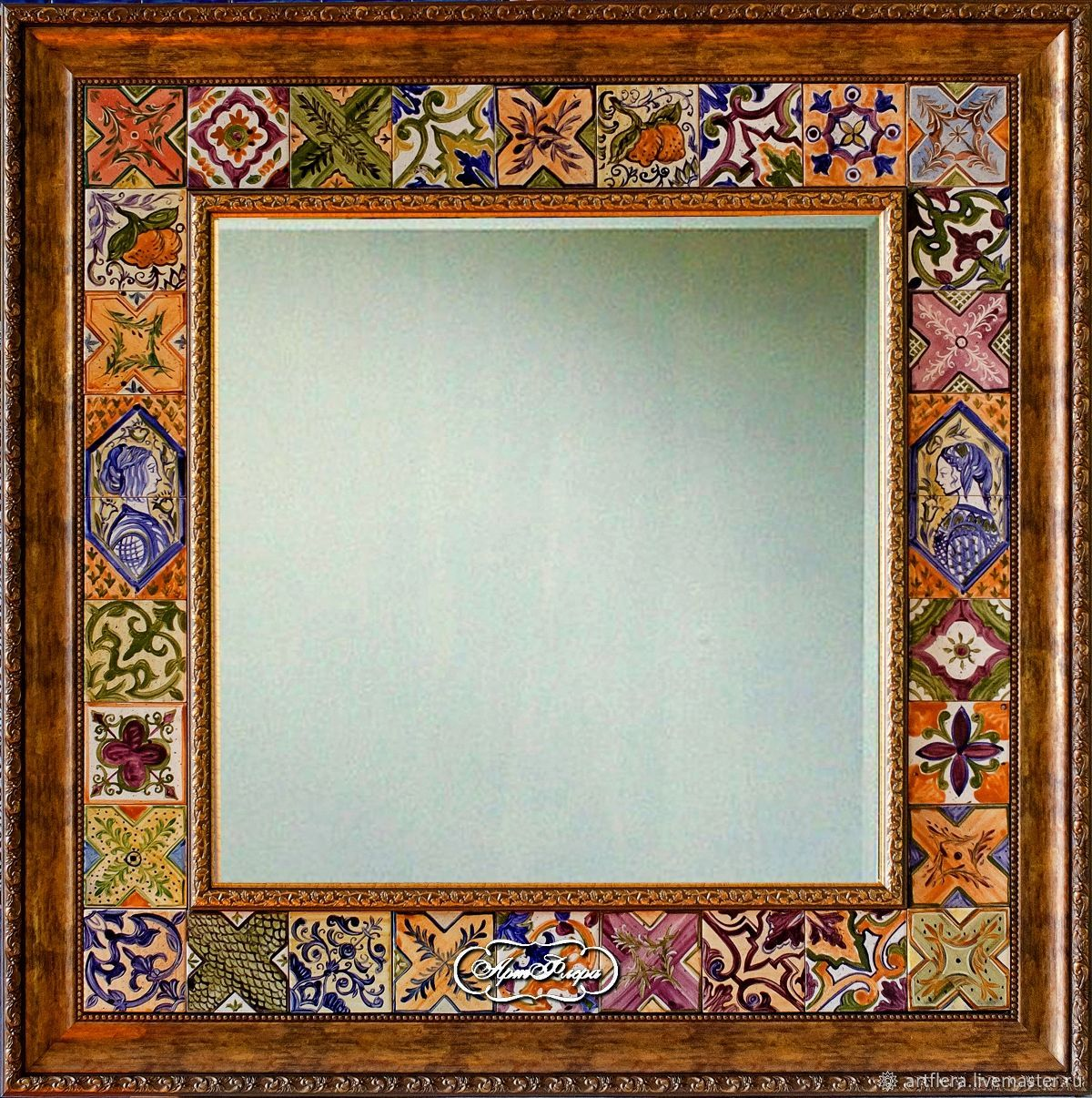 Large mirror Italian tiles 3, Mirror, Kazan,  Фото №1