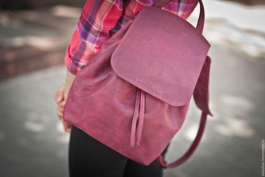 Рюкзак брусничный молодежный