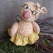 Куклы и игрушки ручной работы. Ярмарка Мастеров - ручная работа Тедди (молодая курочка) Лола 12см. Handmade.