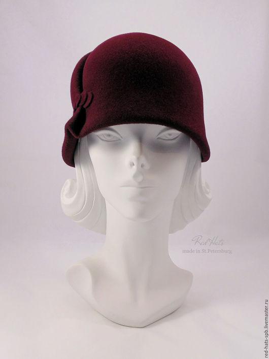 """Шляпы ручной работы. Ярмарка Мастеров - ручная работа. Купить Шляпка клош """"Марта"""", велюр. Handmade. Шляпка, фетровая шляпа"""