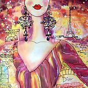 Картины и панно ручной работы. Ярмарка Мастеров - ручная работа В Париже.... Handmade.