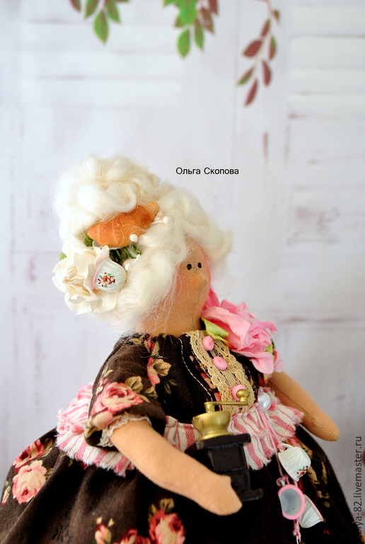 Куклы Тильды ручной работы. Ярмарка Мастеров - ручная работа. Купить Толстушка. Handmade. Бордовый, толстушка для кухни, фартук для кухни