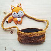Работы для детей, ручной работы. Ярмарка Мастеров - ручная работа Сумка рыжая и лисёнок. Handmade.