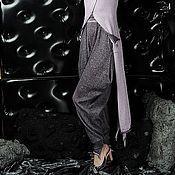 Одежда ручной работы. Ярмарка Мастеров - ручная работа S_029 Брюки-скинни узкие, цвет черно-астра. Handmade.