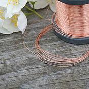 Материалы для творчества handmade. Livemaster - original item 0,2 mm copper wire. Handmade.