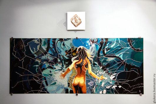 Ню ручной работы. Ярмарка Мастеров - ручная работа. Купить Девушка-зеркало. Handmade. Синий, картина, Картины и панно
