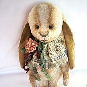 Куклы и игрушки ручной работы. Ярмарка Мастеров - ручная работа Заяц Тедди (17,5 см).. Handmade.
