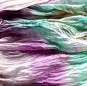Аксессуары ручной работы. Ярмарка Мастеров - ручная работа шарф женский хлопок и шёлк акварельные цвета натуральная ткань. Handmade.