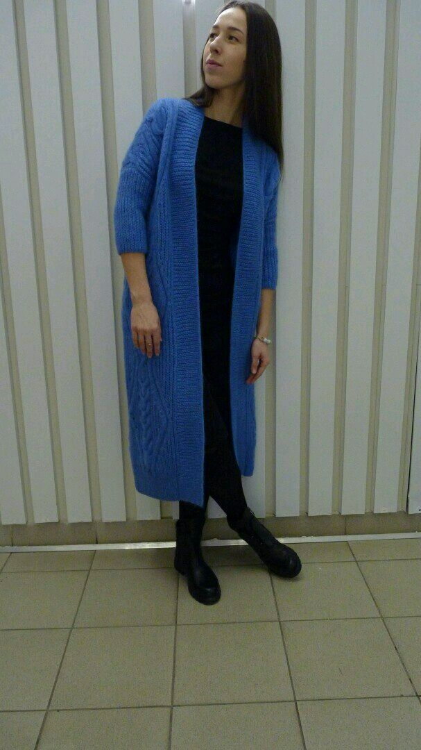 Knitted cardigan from mohair 'Sapphire', Cardigans, Miass,  Фото №1