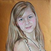 Картины и панно ручной работы. Ярмарка Мастеров - ручная работа Портрет девушки. Handmade.