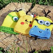 Сумки и аксессуары handmade. Livemaster - original item Knitted housekeeper Minion and Pikachu. m / f