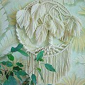 Подвески ручной работы. Ярмарка Мастеров - ручная работа Белое мохнатое дерево. Handmade.