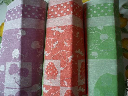 Текстиль, ковры ручной работы. Ярмарка Мастеров - ручная работа. Купить Набор льняных полотенец-джем. Handmade. Комбинированный, полотенца