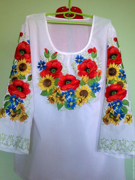Блузки ручной работы. Ярмарка Мастеров - ручная работа. Купить Вышиванка , вышитая блуза , заготовка для пошива блузы. Handmade. Белый