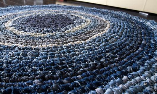 Текстиль, ковры ручной работы. Ярмарка Мастеров - ручная работа. Купить Norrland. Handmade. Синий, джинсовый стиль, ковер