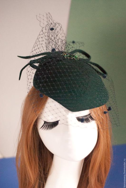 """Шляпы ручной работы. Ярмарка Мастеров - ручная работа. Купить """"Ирландская сага"""". Handmade. Тёмно-зелёный, модный лук"""
