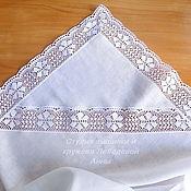 Работы для детей, handmade. Livemaster - original item Diaper for baptism linen. Handmade.