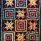 """Текстиль, ковры ручной работы. Ярмарка Мастеров - ручная работа. Купить """"Ясные звезды""""  лоскутный плед. Handmade. Волшебное"""