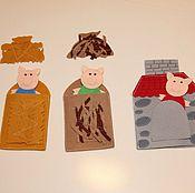Куклы и игрушки ручной работы. Ярмарка Мастеров - ручная работа Фетровый  настольный театр. Handmade.
