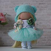 Round Head Doll handmade. Livemaster - original item Tiffany`s pumpkin head doll. Handmade.