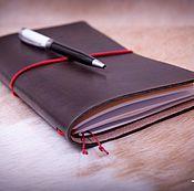 Канцелярские товары handmade. Livemaster - original item Traveler`s notebook ` Chocolate`. Handmade.