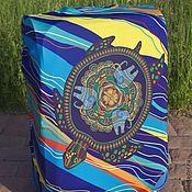 "Case handmade. Livemaster - original item Luggage cover ""Adriatic turtle"". Handmade."