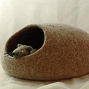 Для домашних животных, ручной работы. Ярмарка Мастеров - ручная работа Домики для грызунов и хорьков из войлока. Handmade.