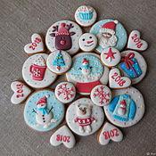 Сувениры и подарки handmade. Livemaster - original item Set of gingerbread gingerbread for the New year.. Handmade.