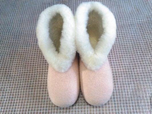 Обувь ручной работы. Ярмарка Мастеров - ручная работа. Купить Валяные чуни.. Handmade. Кремовый