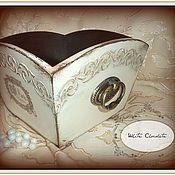 """Для дома и интерьера ручной работы. Ярмарка Мастеров - ручная работа Конфетница """"Белый шоколад"""". Handmade."""