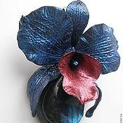 """Украшения ручной работы. Ярмарка Мастеров - ручная работа Кулон """"Орхидея ночи"""". Handmade."""